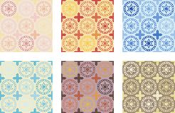 Seamless pattern of tiles. Vintage decorative design elements. Perfect for printing on fabric or paper royalty free illustration