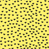 Seamless pattern with tiny black hearts. Abstract repeating. Stock Photography
