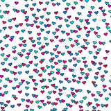 Seamless pattern with tiny colorful hearts. Abstract repeating. Stock Photo