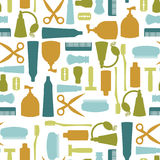Seamless pattern with toiletries Stock Photo