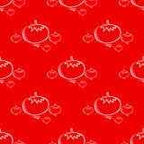 Seamless pattern with tomato  Royalty Free Stock Images