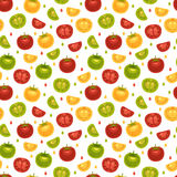 Seamless Pattern with tomatoes Royalty Free Stock Image