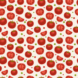 Seamless Pattern with tomatoes Stock Photo