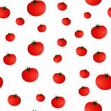 Seamless pattern with tomatoes Stock Photos