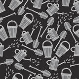 Seamless pattern with tools Royalty Free Stock Photos