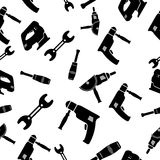 Seamless pattern of Tools Stock Images