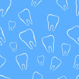 Seamless pattern with tooth Stock Photos