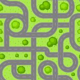Seamless pattern top view of roads. Stock Image