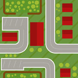 Seamless pattern top view of the village Royalty Free Stock Photos