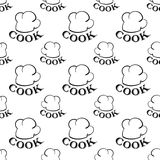 Seamless pattern with toques. vector Stock Images