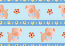 Seamless pattern with toy baby pig Royalty Free Stock Images