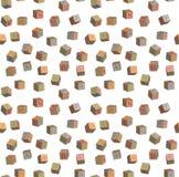 Seamless pattern toy blocks alphabet Stock Photos