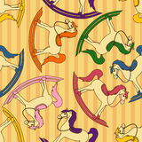 Seamless pattern of toy horses Stock Photography