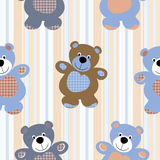 Seamless pattern of a toy teddy bear Stock Image