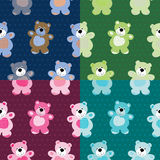 Seamless pattern of a toy teddy bear Royalty Free Stock Photography