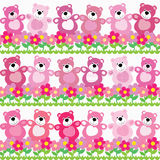 Seamless pattern of a toy teddy bear Royalty Free Stock Images