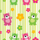 Seamless pattern of a toy teddy bear Stock Photos