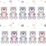 Seamless pattern toy teddy bears Royalty Free Stock Photography