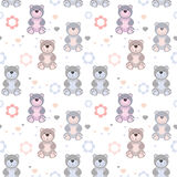 Seamless pattern toy teddy bears Stock Images