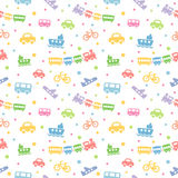 Seamless pattern toy-transport Royalty Free Stock Photography