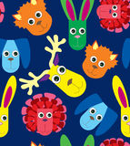 Seamless pattern with toys Royalty Free Stock Photos