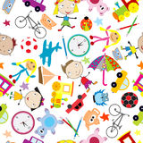 Seamless pattern with toys, background for kids Royalty Free Stock Images