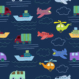 Seamless pattern with toys. Stock Images