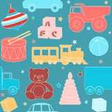 Seamless pattern with toys Royalty Free Stock Images
