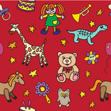 Seamless pattern with toys Royalty Free Stock Photography