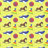 Seamless pattern toys Royalty Free Stock Photography