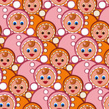 Seamless pattern toys. Stylish beautiful baby seamless pattern with toys. Vector elegance background. Children's decoration texture Stock Photos