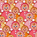 Seamless pattern toys. Stylish beautiful baby seamless pattern with toys. Vector elegance background. Children's decoration texture Royalty Free Stock Photos