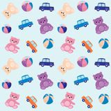 Seamless pattern with toys Stock Images
