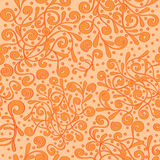 Seamless pattern tracery handmade, natural mood Royalty Free Stock Images