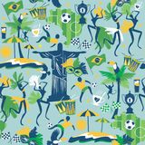 Seamless pattern with traditional Brazilian items Royalty Free Stock Image