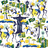 Seamless pattern with traditional Brazilian items Stock Photography
