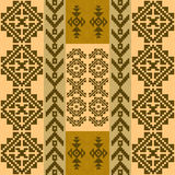 Seamless pattern with traditional native american indian motifs Royalty Free Stock Image