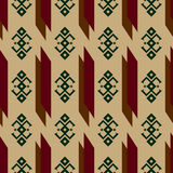 Seamless pattern with traditional Native American Indian ornaments Stock Images