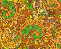 Seamless  pattern with traditional oriental floral ornamen Stock Photography