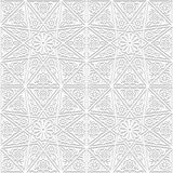 Seamless pattern with traditional ornament. Vector illustration Stock Photos