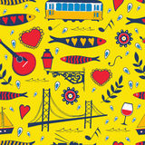 Seamless pattern with traditional portuguese Stock Image