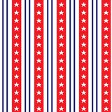 Seamless pattern in traditional red, blue and white colors. USA flag. Stock Photos