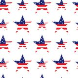 Seamless pattern in traditional red, blue and white colors. USA flag. Royalty Free Stock Photo