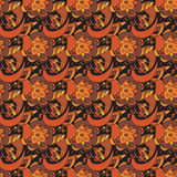 Seamless pattern in traditional russian khokhloma style Stock Photo