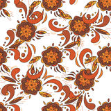 Seamless pattern in traditional russian khokhloma style Royalty Free Stock Image