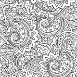 Seamless pattern with traditional vector oriental floral ornamen Royalty Free Stock Photography