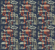 Seamless pattern of traffic. Means of transportation. Bus, plane, ship, train, submarine. EPS 10 vector Royalty Free Stock Photo