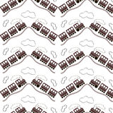 Seamless Pattern - Train Royalty Free Stock Photos
