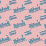Seamless pattern, train theme Royalty Free Stock Photography