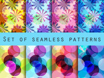 Seamless pattern of transparent geometric shapes. Stock Photography